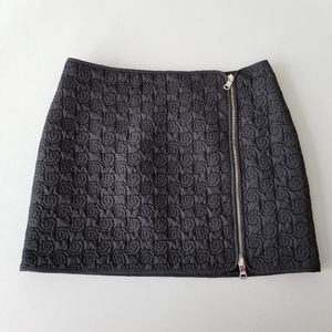 Armani Exchange Quilted Mini Skirt Lined Sz 0